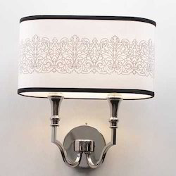 Art Drum White Metal Wall Lights
