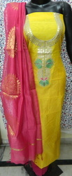 Aaditri Chanderi Gota Patti Suit