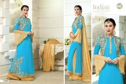 Sky Blue Wedding Anarkali Suit