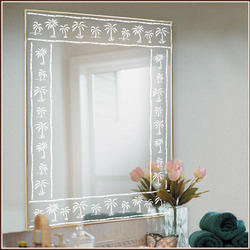 Etched Mirror Glass