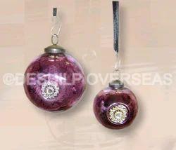 Metal Fitting Purple Ornaments