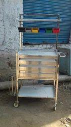 Crash Cart Trolley SS