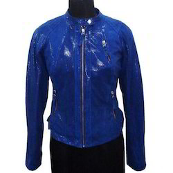 Leather Glitter Leather Jacket