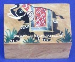 Soapstone Painting Pill Box