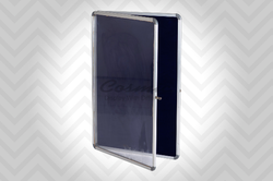 Sober Pin Up Board with Door Cover