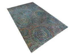 Recycled Sari Silk Rugs