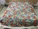 Multi Printed Applique Designer Cutwork Bedsheet/Bed Cover