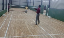 Badminton Teak Wood Laminated Flooring