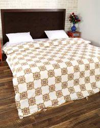 Double Bed Cotton Block Printed Floral Duvet Cover Set