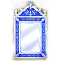 Blue Venetian Mirror