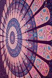Block Print Mandala Printed Bed Sheet
