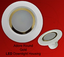 Round Adore Gold LED Downlight Housings