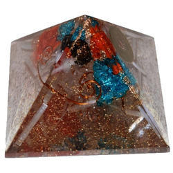 Orgone Pyramid with 3 Crystals