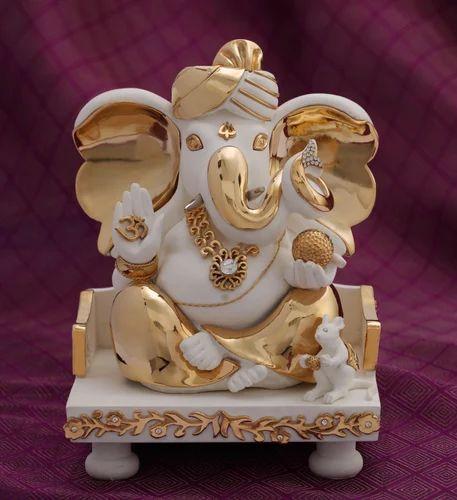 Resin Pagdi Ganesh Statue