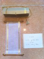 Blank Scroll Invites Ready To Assemble For Scroll Invitation