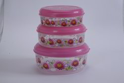 Printed Papad Box Big Set Air Tight Container