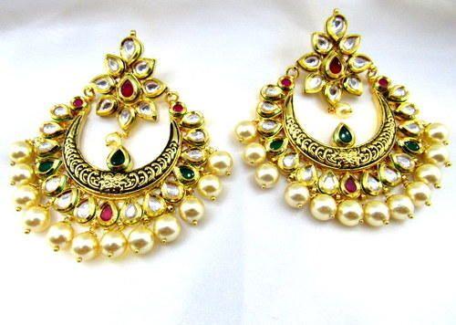 New Mughal Kundan Earring