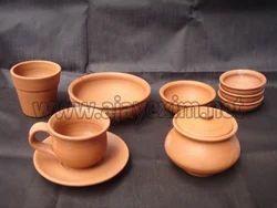 Terracotta Dining Set & Terracotta Dinnerware Sets - Terracotta Dining Set Exporter from Madurai