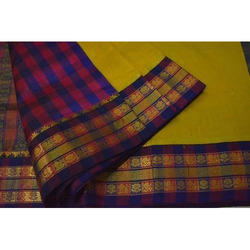 Checked Pallu Saree