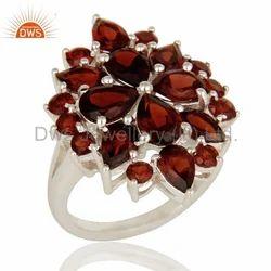 925 Silver Garnet Birthstone Rings Jewelry