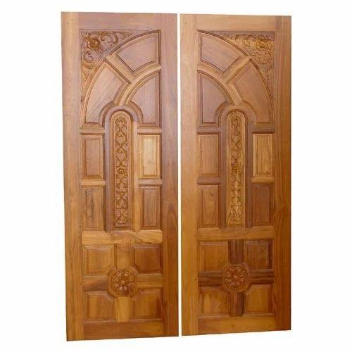 Teak wood doors teak wood double doors wholesale trader for Double door wooden door