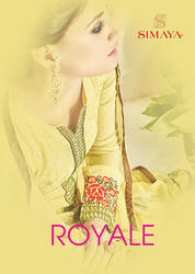 Georgette Embr. Salwar Kameez With Sleeve Work