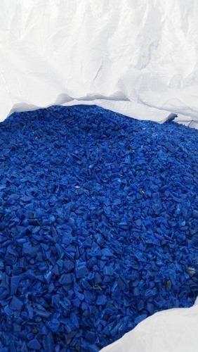 HDPE Blue Drum Scrap Grinding