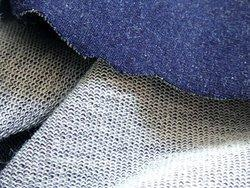 Knit Indigo Denim Fleece Fabrics
