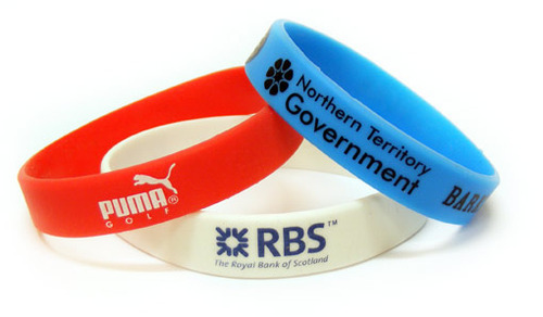 Embossed Silicon Wristbands