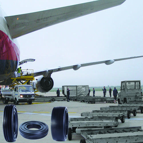 Airport Trolley Solid Resilient Tyres