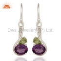 Fine Silver Gemstone Earrings