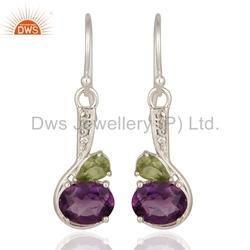 Fine Silver Gemstone Earrings