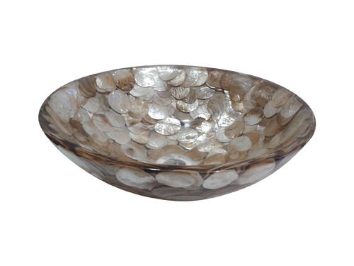Prayosha Round Golden MOP Washbasin