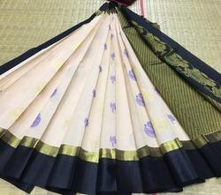 Kuppadam Silk Border Butta Work Silk Cotton Saree