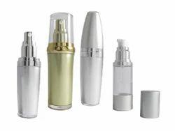 30 Ml Serum Pump Bottles - Acrylic / Silver Metalised