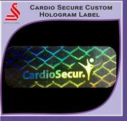 Custom Secure Transparent Hologram Label