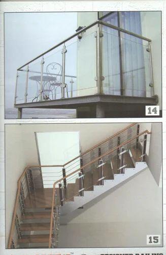 Stainless Steel Railing Designer Steel Stairs Railing Wholesale