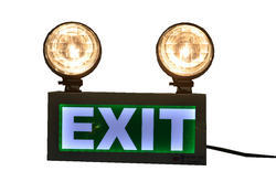 X-Lite Industrial Emergency Light with Exit Sign (Green)
