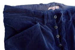 Indigo Corduroy Fabrics