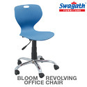 Blue Revolving Armless Plastic Chair
