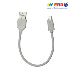 White Small Micro USB Charging Cable