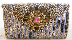 Zari Embroidery Handicraft Clutch Bag