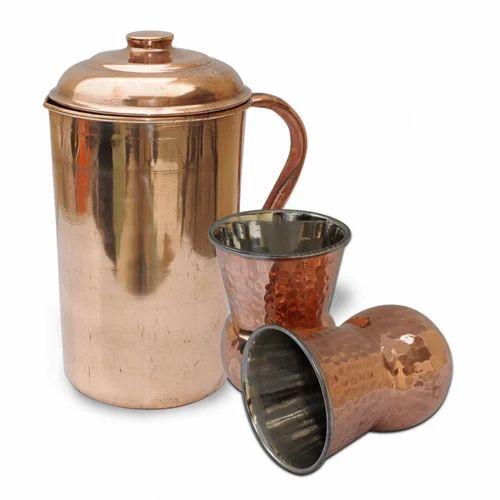 Copper Jug And Glass Set Manufacturer