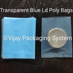 Transparent Blue LDPE Poly Bags