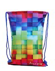 Blocks Printed Drawstring Bag
