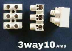 Amp Connector 3 Way 10 Amps