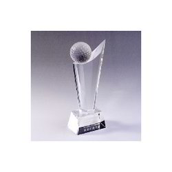Golf Ball Crystal Trophy