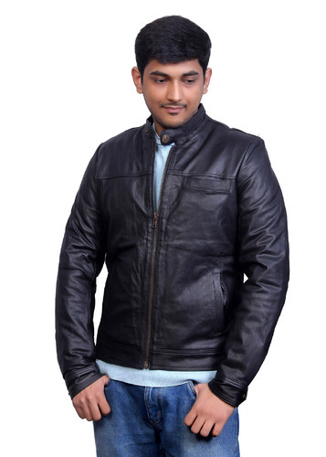 Black Pure Men Leather Jackets