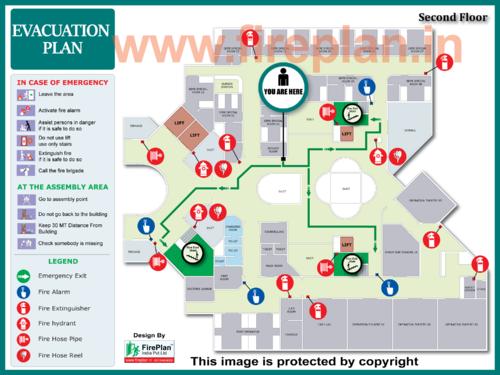 Fire Evacuation Plan Fire Escape Route Plan Manufacturer