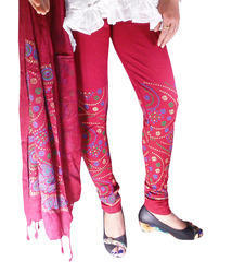 Bandhani Print Legging With Print Stole